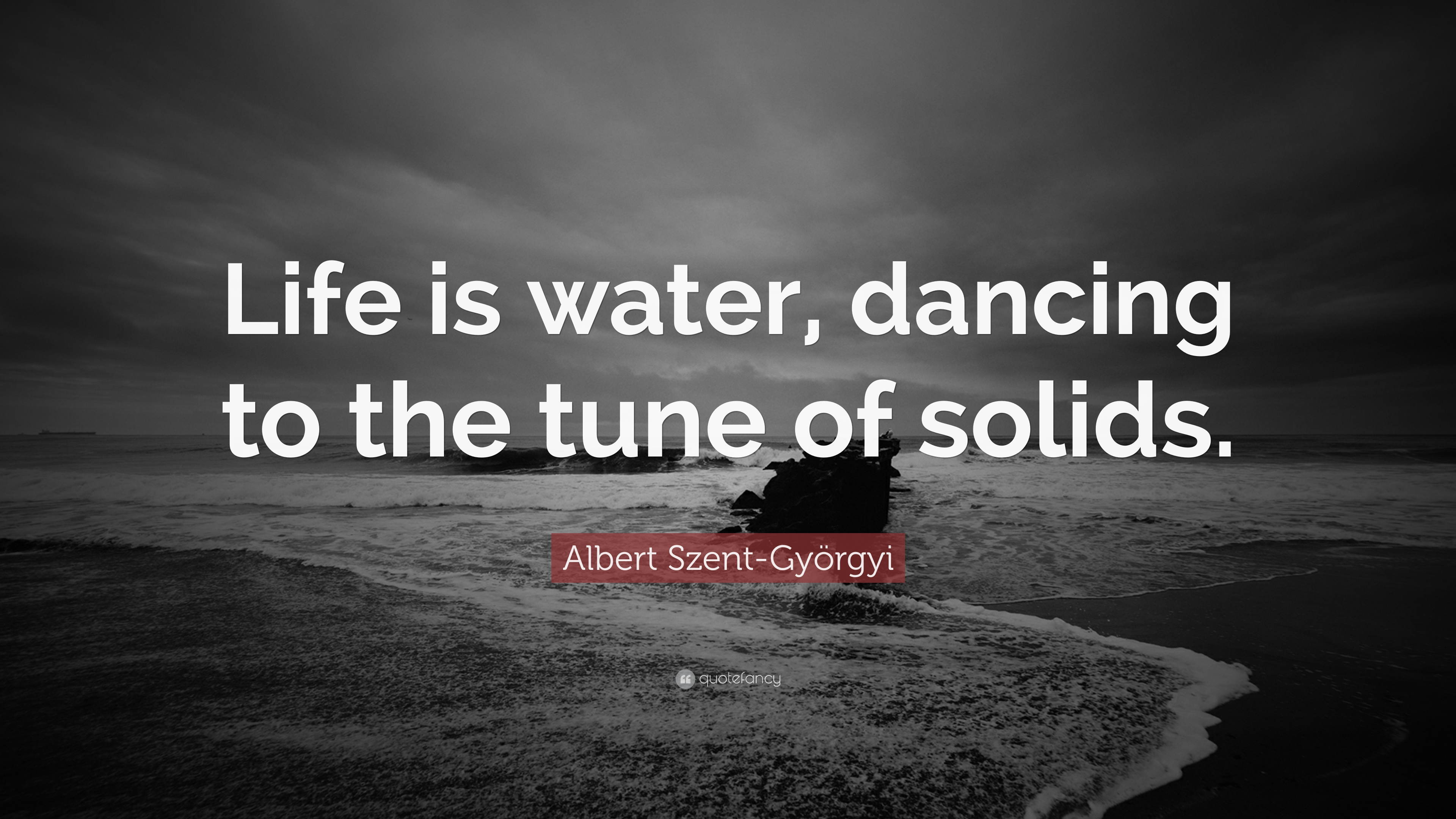 Albert Szent Gyorgyi Quote Life Is Water Dancing To The Tune Of Solids 7 Wallpapers Quotefancy