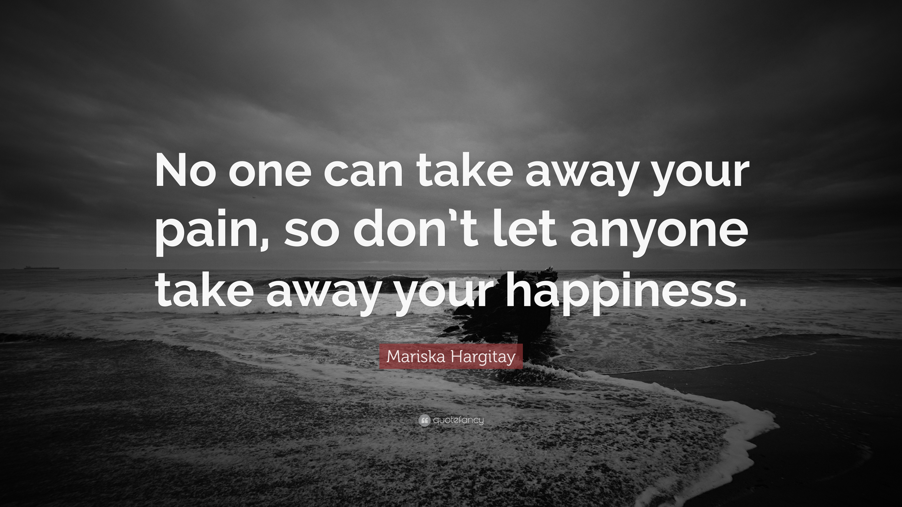 Mariska Hargitay Quote No One Can Take Away Your Pain So Dont