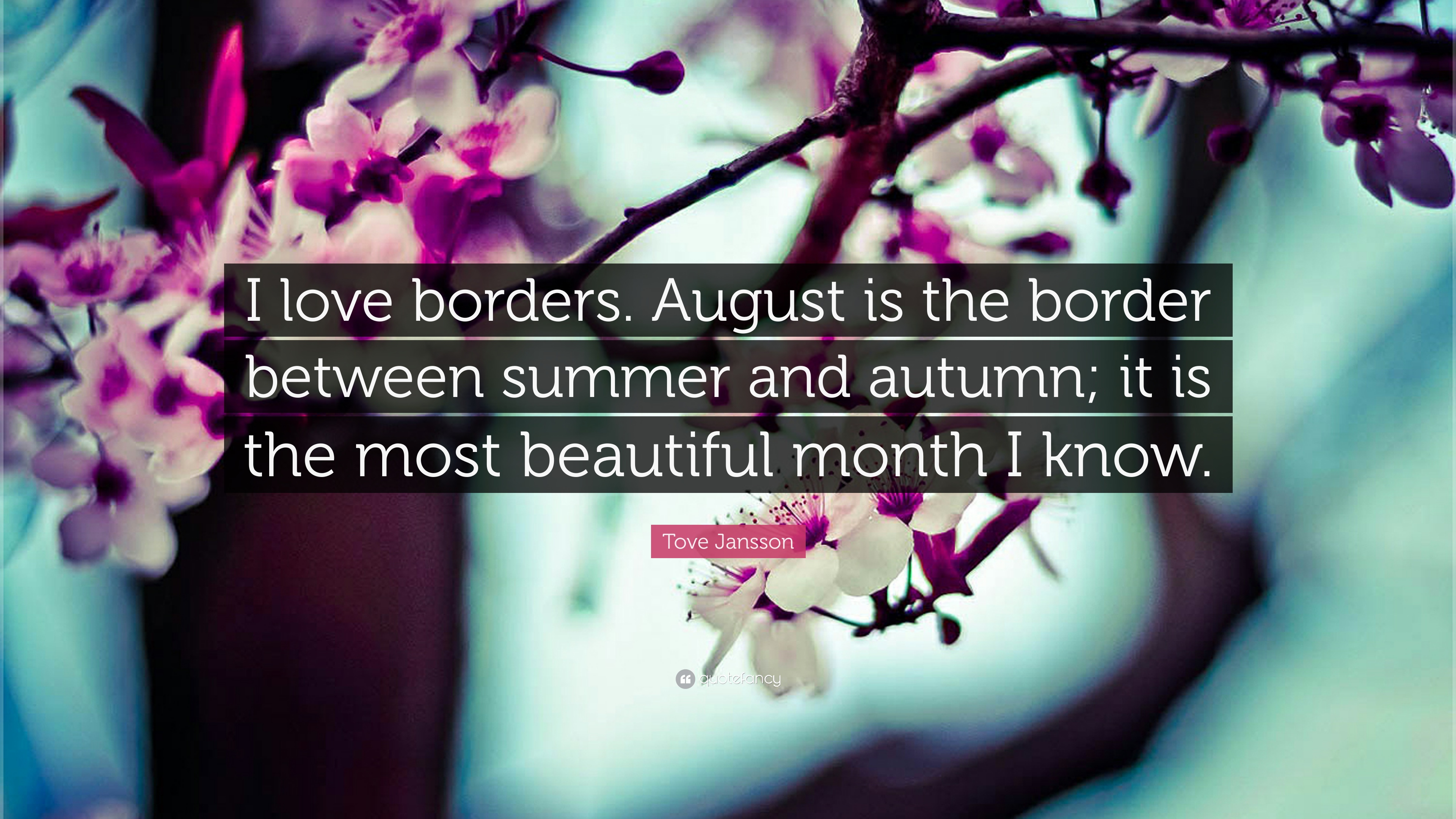7 Wallpapers Tove Jansson Quote I Love Borders August Is The Border Between Summer And