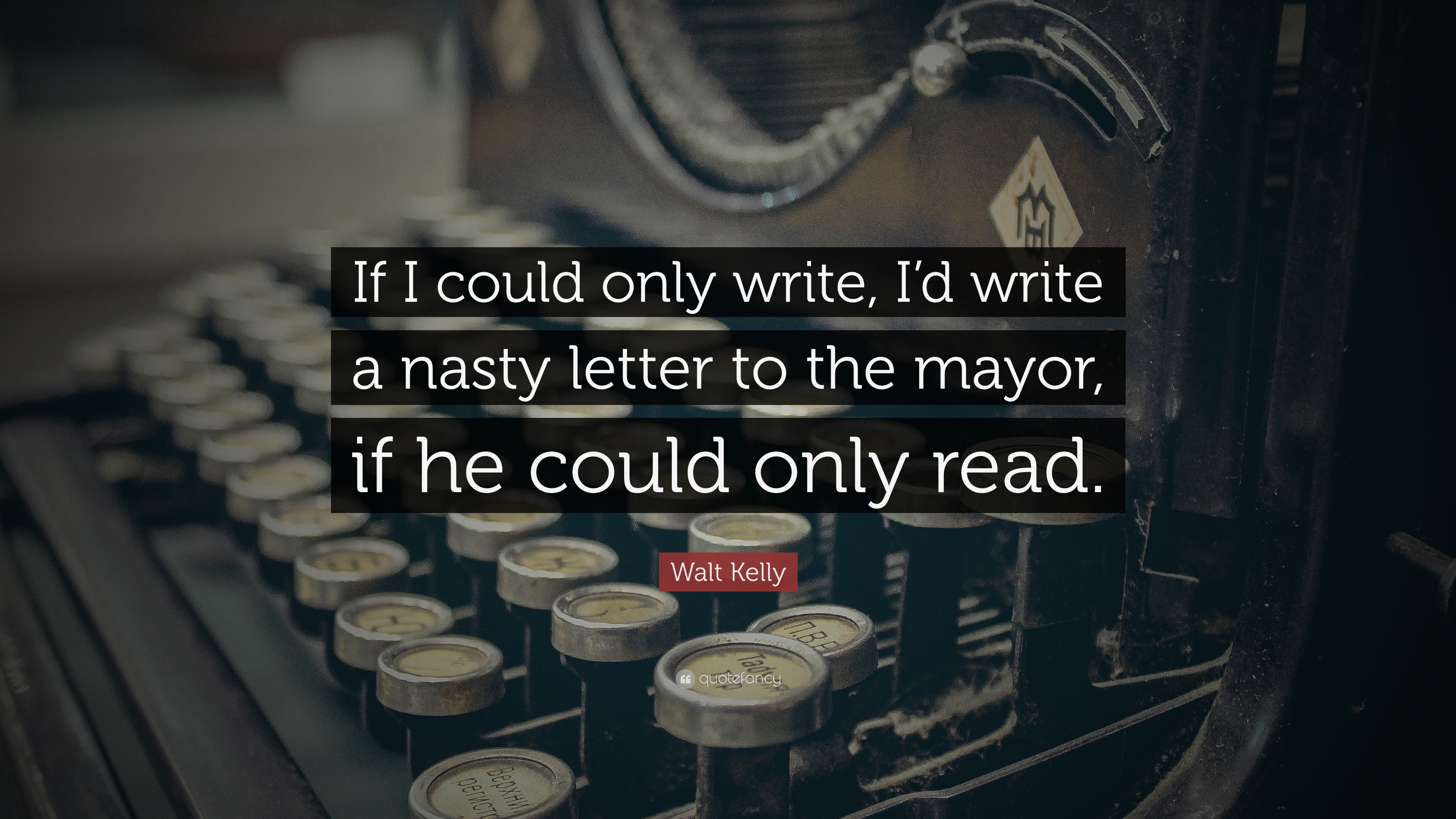 A letter to ...