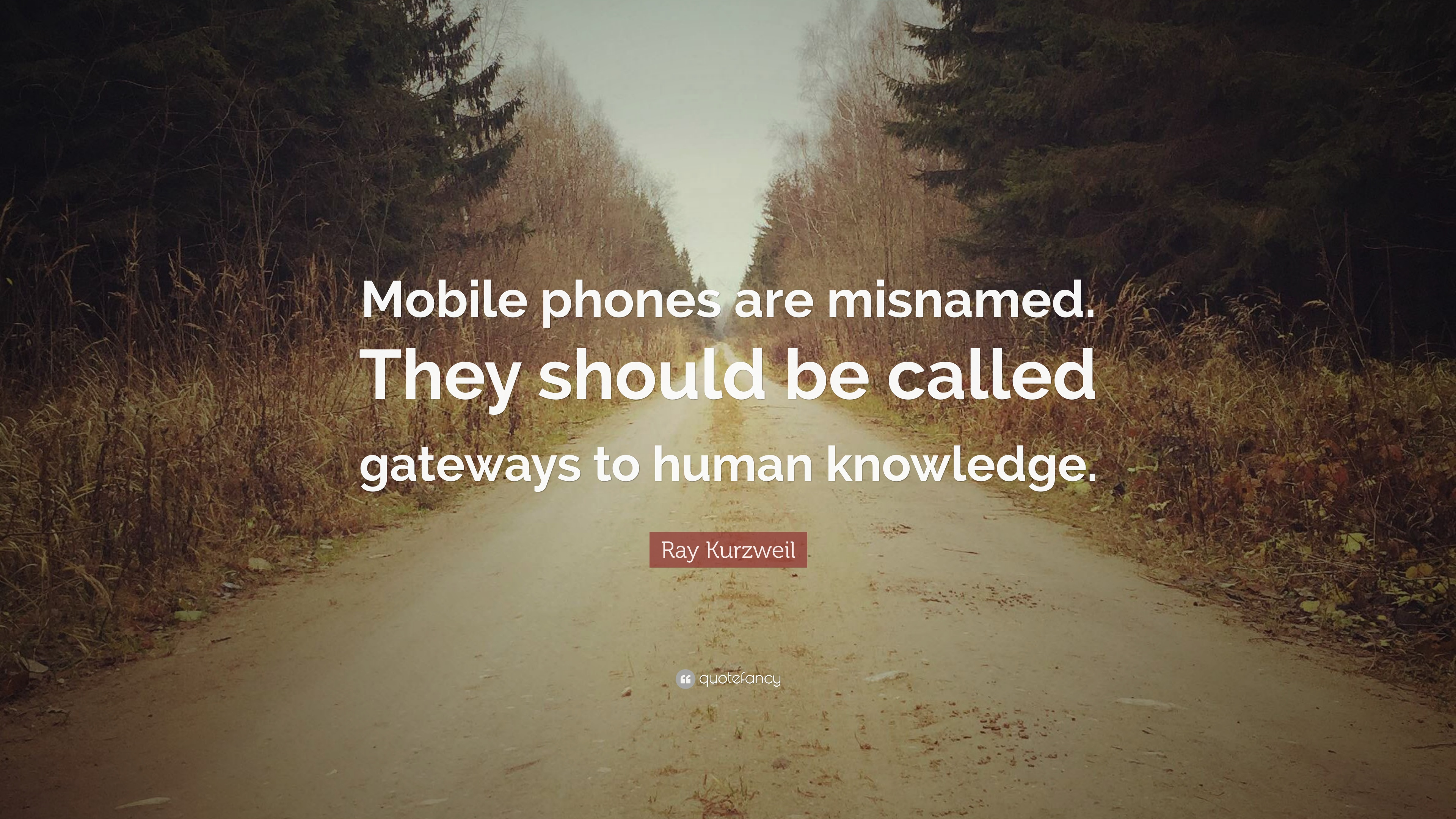 "Ray Kurzweil Quote: ""Mobile phones are misnamed  They should"