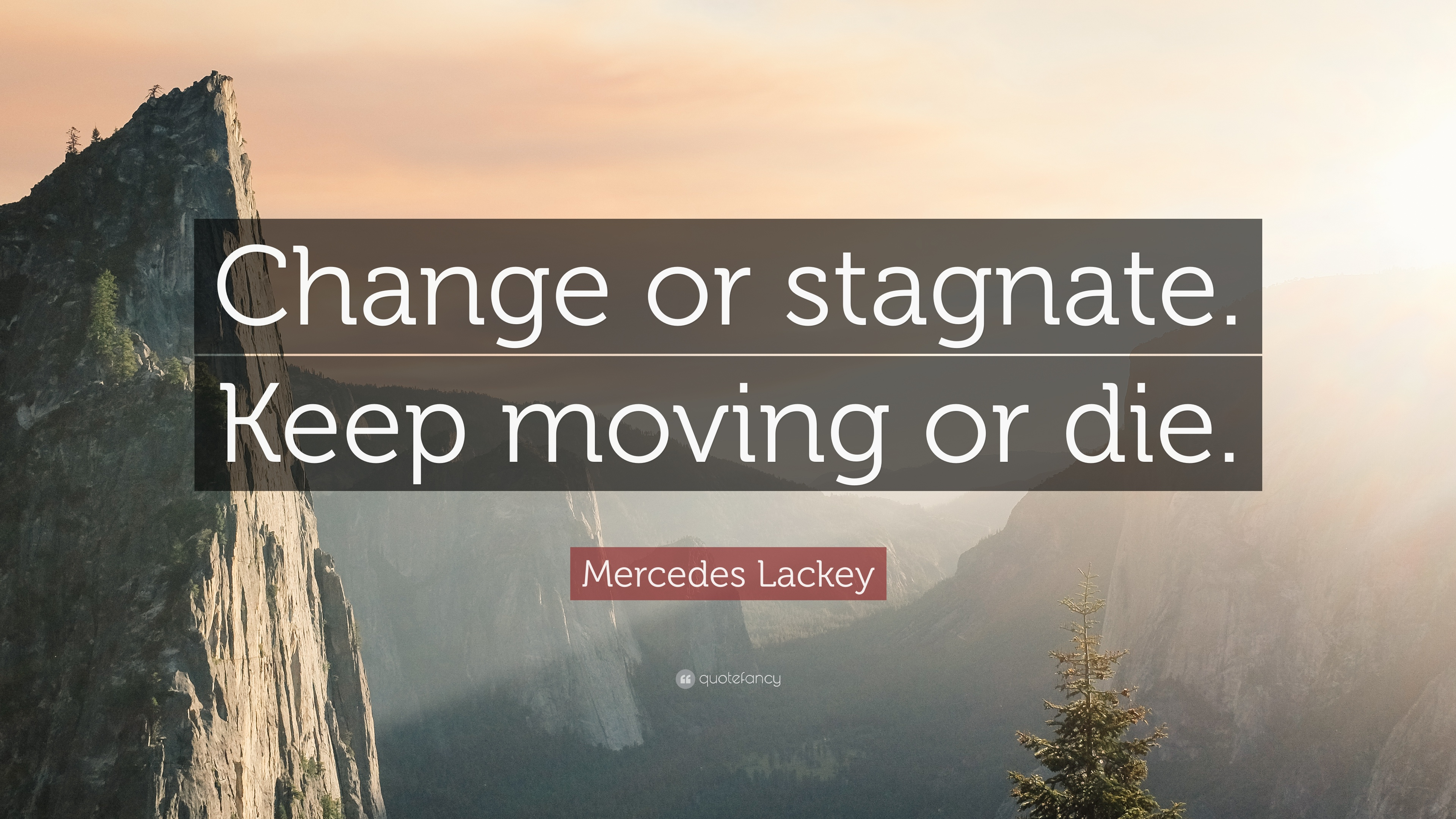 "Keep Moving Quotes Mercedes Lackey Quote ""Change Or Stagnatekeep Moving Or Die"