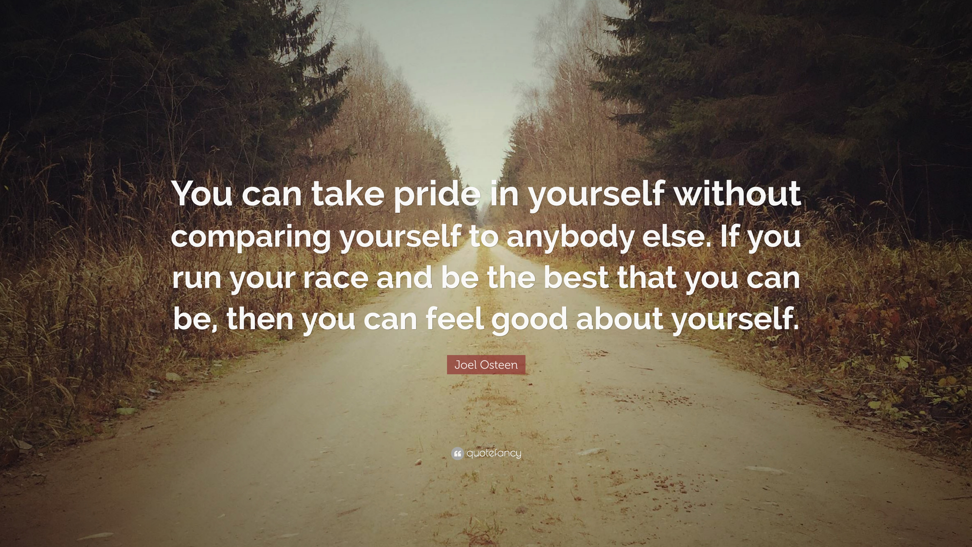 """Joel Osteen Quote: """"You Can Take Pride In Yourself Without"""