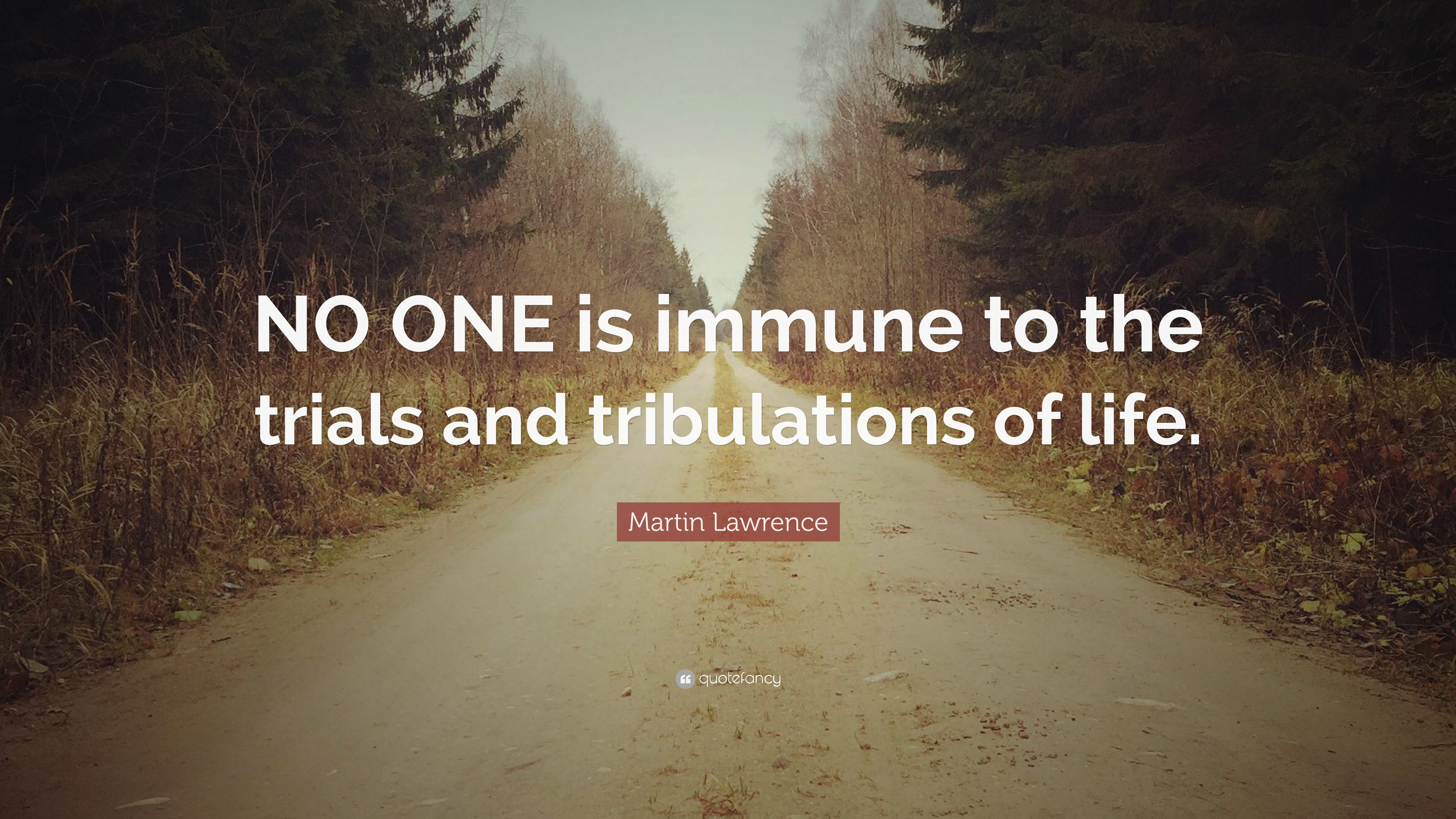 """Quotes About Trial In Life: Martin Lawrence Quote: """"NO ONE Is Immune To The Trials And"""