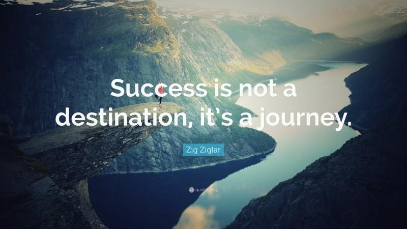 "Zig Ziglar Quote: ""Success is not a destination, it's a journey."""