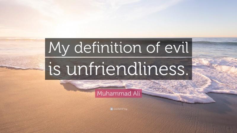Unfriendliness