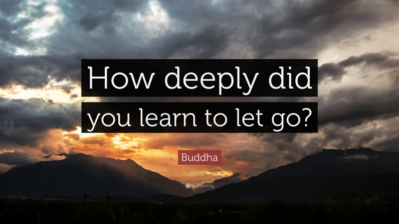 """Buddha Quote: """"How deeply did you learn to let go?"""""""